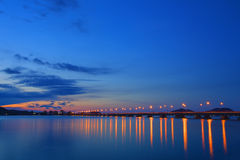 Bridge. Colorful of bridge at Songkhla,Thailand and blue sky background Stock Photos
