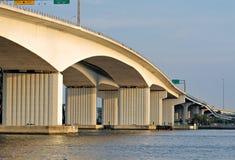 Bridge and columns Stock Photo