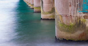 Bridge columns Royalty Free Stock Photography