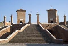 Bridge in Comacchio, Italy Stock Image