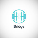 Bridge company logo Stock Photography