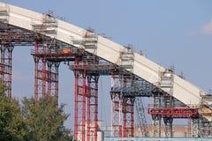 Bridge concrete arc construction site Royalty Free Stock Images