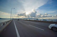 Bridge connecting George Town on Penang island and Seberang Prai Royalty Free Stock Images