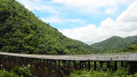 Bridge connecting the mountain. HD. Bridge connecting the mountain of northern Thailand. Time Lapse stock footage