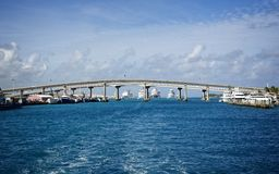 Bridge connecting Paradise Island and Nassau in the Bahamas Royalty Free Stock Photo
