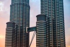 Bridge connecting Petronas Twin Towers Stock Photos