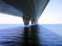 Bridge of the Constitution, called La Pepa, in the bay of Cadiz Stock Photo