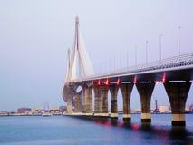 Bridge of the Constitution, called La Pepa, in the bay of Cadiz Stock Images