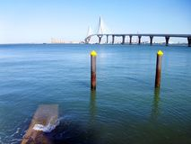 Bridge of the Constitution, called La Pepa, in the bay of Cadiz Stock Photography