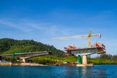 Bridge in constructing Stock Photography