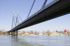 Bridge Construction. Bridge on Sava river Belgrade Serbia Stock Photography