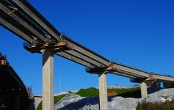 Bridge Construction. The new interstate overpass construction Stock Images