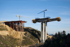 Bridge construction Royalty Free Stock Photos