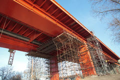 Bridge construction Royalty Free Stock Images