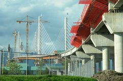 Bridge Construction Royalty Free Stock Images