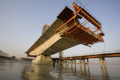 Bridge Construction Royalty Free Stock Photography