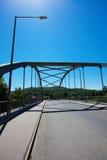 Bridge construction against the blue sky Stock Image