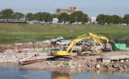 Bridge Construction Crew Royalty Free Stock Image