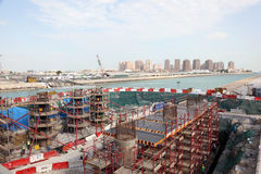 Bridge construction in Doha, Qatar Royalty Free Stock Photo