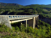 Bridge construction. Durdevica Tara arc bridge in the mountains, Royalty Free Stock Photo