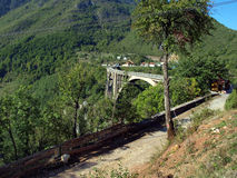 Bridge construction. Durdevica Tara arc bridge in the mountains, Stock Photos