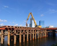 Bridge Construction in Kaohsiung City Stock Photography