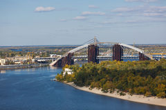 Bridge construction in Kiyv Stock Photography