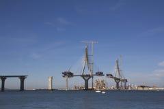 Bridge on construction Stock Images