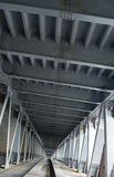 Bridge construction. Metal framework of the bridge Royalty Free Stock Photography