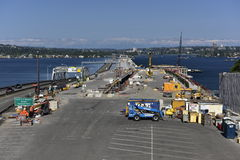 Bridge Construction, near Seattle, USA Stock Photo