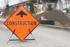 Bridge Construction Sign Stock Image