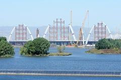 Bridge construction site Stock Images
