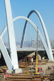 Bridge construction site Stock Image