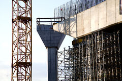 Bridge construction site detail. Construction of one of the biggest bridge with one tower in the world Stock Image