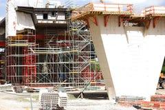 Bridge construction site Royalty Free Stock Photos