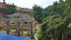 Bridge construction site of road project sri lanka stock images
