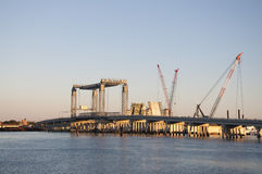 Bridge Construction in St. Augustine, Florida Stock Image