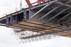 Bridge construction Stock Images