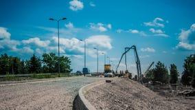 Bridge construction time lapse stock video