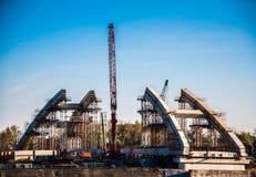 Bridge construction Stock Images