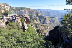 Bridge at the Copper Canyon. Magnificent view of the Copper Canyon, Divisadero, Chihuahua Mexico Royalty Free Stock Photo