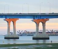 bridge coronadoen diego san Royaltyfri Foto