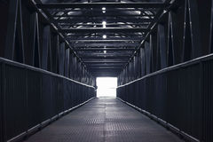Bridge corridor. Royalty Free Stock Photo