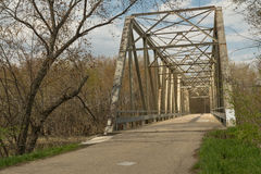 Bridge in the country. Royalty Free Stock Photo