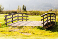 Bridge in the countryside Royalty Free Stock Images