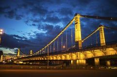 Bridge. The Crimean Bridge in Moscow Royalty Free Stock Photo