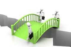 Bridge crisis. 3d illustration of Bridge crisis. (Business concept Stock Photo
