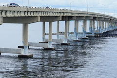 A bridge cross ocean Stock Images