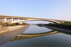 Bridge cross the river in Hsinchu Stock Photo