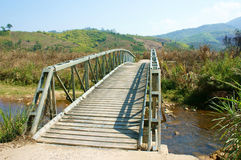 Bridge cross stream, Vietnamese countryside Royalty Free Stock Images